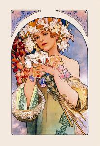 Flower by Alphonse Mucha