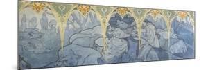 Fragments de frise du Pavillon de la Bosnie -Herzégovine à l'Exposition Universelle de 1900 à by Alphonse Mucha