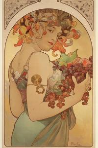 Fruit, 1897 by Alphonse Mucha