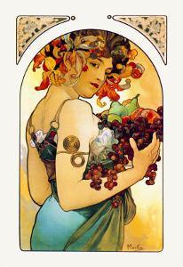Fruit by Alphonse Mucha