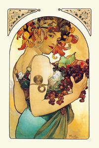 Fruit by Alphonse Mucha
