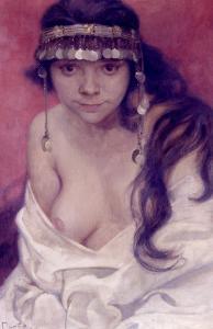 Girl from Montenegro by Alphonse Mucha