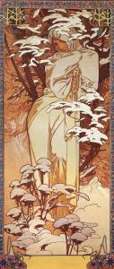 Hiver, 1900 by Alphonse Mucha