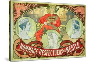 Hommage Respectueux De Nestle, 1897 by Alphonse Mucha