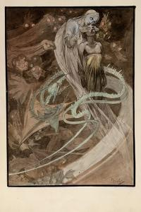 Illustration for the Illustrated Edition Le Pater by Alphonse Mucha