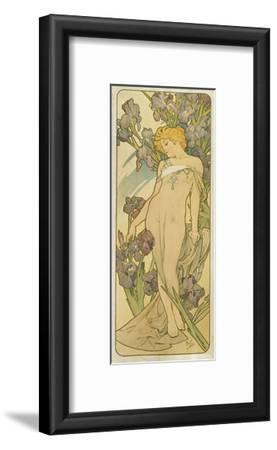 """Iris, (Aus Der Serie Von Dekorationstafeln """"Blumen), 1898"""