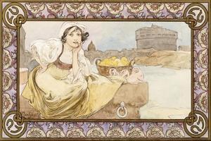 Italian Girl, 1900 by Alphonse Mucha