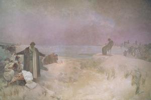 Jan Amos Komensky (1592-1670), from the 'Slav Epic', 1918 by Alphonse Mucha