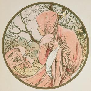 January, 1899 (Detail) by Alphonse Mucha