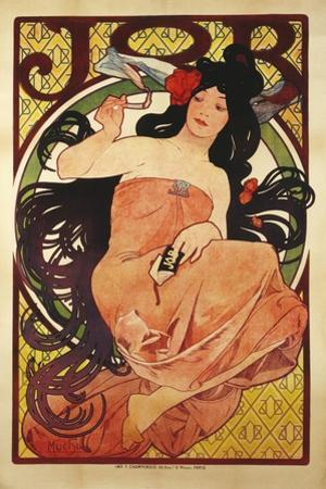 Job', 1898, Printed by F, Champenois by Alphonse Mucha