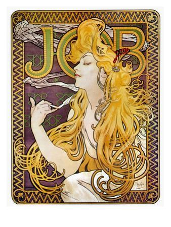 JOB Cigarettes, c. 1897 by Alphonse Mucha