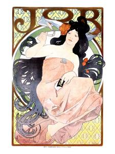 Job Papier and Cigarettes by Alphonse Mucha