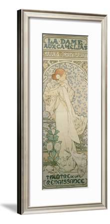 La Dame Aux Camelias with Sarah Bernhardt. Poster for the Theatre De La Renaissance, 1896