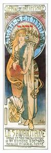 La Samartine With Sara Bernhardt by Alphonse Mucha