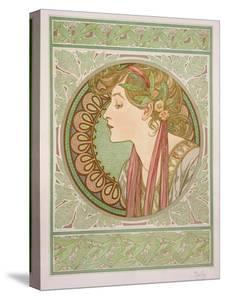 Laurel, 1901 by Alphonse Mucha