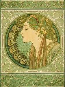Laurel, 1921 by Alphonse Mucha