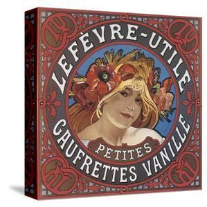 Lefevre-Utile Petites Gaufrettes Vanille by Alphonse Mucha