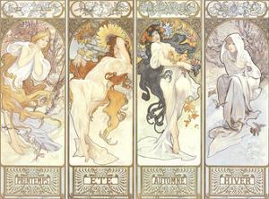 Les Quatre Saisons by Alphonse Mucha