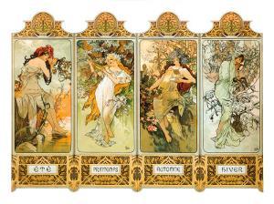 Les Saisons by Alphonse Mucha
