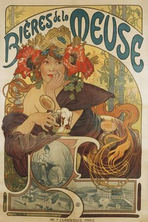 Meuse Beer, 1897 by Alphonse Mucha