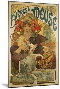 Meuse Beer; Bieres De La Meuse, 1897 by Alphonse Mucha