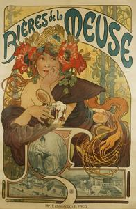 Meuse Beer by Alphonse Mucha
