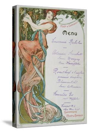 Moet and Chandon Menu, 1899