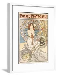 Monaco, Monte Carlo, 1897 by Alphonse Mucha