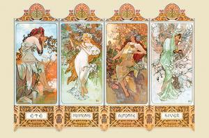 Mucha The Four Season by Alphonse Mucha