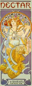 Nectar by Alphonse Mucha