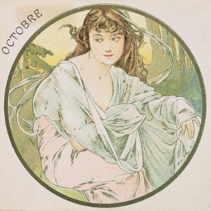October, 1899 (Detail) by Alphonse Mucha