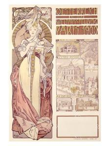 Osterreich, Paris, 1900 by Alphonse Mucha