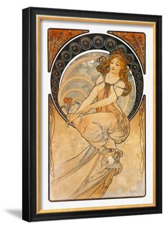 Mucha Salon Des Cent Nouveau Advert Large Wall Art Print 18X24 In