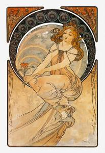 Painting by Alphonse Mucha