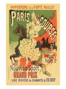 Paris Grand Prix Racing - the New Sport by Alphonse Mucha