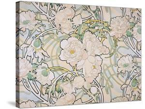 Peonies, 1897 by Alphonse Mucha