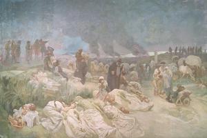 Peter Chelcicky (C.1390-C.1460) at Vodnany, from the 'Slav Epic', 1918 by Alphonse Mucha