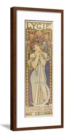"""Plakat Fuer Die Tanzgruppe """"Lygie"""" Paris, 1901, (Oberer Teil)"""