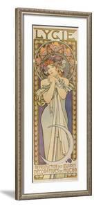 """Plakat Fuer Die Tanzgruppe """"Lygie"""" Paris, 1901, (Oberer Teil) by Alphonse Mucha"""
