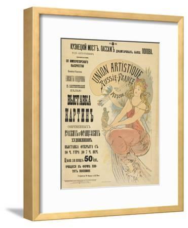 Plakat Fuer Eine Ausstellung Russischer Und Franzoesischer Kuenstler, 1898