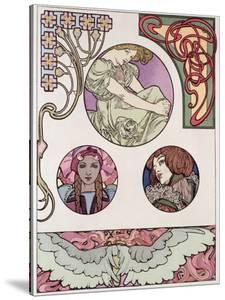Plate 46 from 'Documents Decoratifs', 1902 by Alphonse Mucha