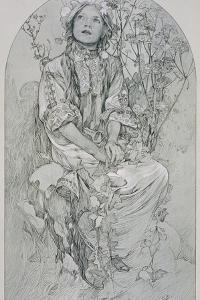 Plate 8 from 'Figures Decoratives', 1902 by Alphonse Mucha