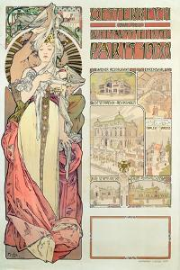 Poster Advertising 'Austria at the International Exposition, Paris 1900', 1900 by Alphonse Mucha