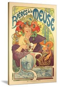 Poster Advertising 'Bieres De La Meuse', 1897 by Alphonse Mucha