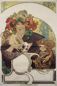 Poster Advertising 'Bieres De La Meuse', about 1897 by Alphonse Mucha