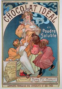Poster Advertising 'Chocolat Ideal', 1897 by Alphonse Mucha