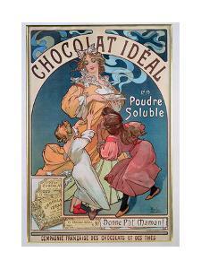 Poster Advertising 'Chocolat Ideal', 1897 by Alphonse Mucha