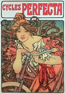 Poster Advertising 'Cycles Perfecta', 1902 by Alphonse Mucha