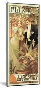 Poster Advertising 'Flirt' Biscuits by 'Lefevre-Utile', 1899 by Alphonse Mucha