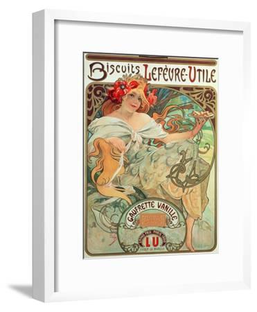 Poster Advertising 'Lefevre-Utile' Biscuits, 1896